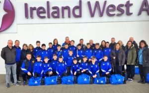 29.4.2017 U13's arrive at Knock Aiport